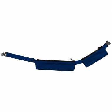 Blauw sport heuptasje 2 vakken 80 107 cm voor volwassenen 10087512