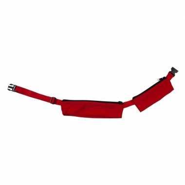 Rode reis heuptas met 2 vakjes 80-107 cm