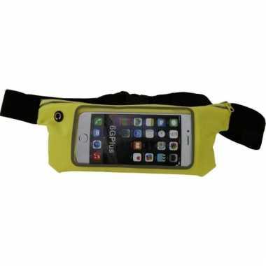 Sportheuptasje voor je mobiel geel